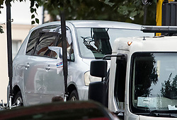 © Licensed to London News Pictures. 22/09/2018. London, UK. A vehicle with it's wing mirror covered in an evidence bag, being removed from outside a property on Wilderton Road, Stamford Hill, North London where a man in his 20's was found stabbed to death following a fight at a flat. A second victim , a 17-year-old male , was also taken to hospital suffering a stab injury. A murder investigation has bene launched. Photo credit: Ben Cawthra/LNP