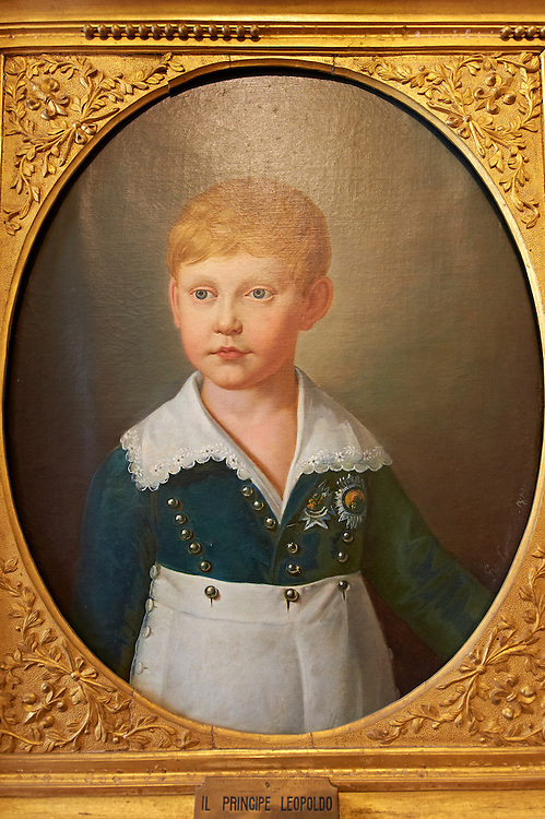 Prince Leopold painted by Giuseppe Cammarano. The Kings of Naples Royal Palace of Caserta, Italy. A UNESCO World Heritage Site