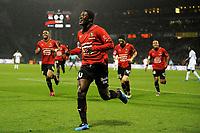 FOOTBALL - FRENCH CHAMPIONSHIP 2009/2010  - L1 - OLYMPIQUE LYONNAIS v STADE RENNAIS  - 29/11/2009 - PHOTO JEAN MARIE HERVIO / DPPI - JOY ASAMOAH GYAN (REN) AFTER HIS GOAL