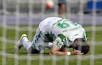 ALL BRUK AV BILDET BLIR FAKTURERT. INNGÅR IKKE I AVTALER.<br /> <br /> Fotball<br /> Tyskland<br /> Foto: imago/Digitalsport<br /> NORWAY ONLY<br /> <br /> 08.08.2015 - Fussball - Saison 2015 2016 - DFB Pokal Vereinspokal - 01. Runde: FC Erzgebirge Aue - SpVgg Greuther Fürth Fuerth - / - Veton Berisha (19, SpVgg Greuther Fürth ) angeschlagen am Boden<br /> <br /> Veton Berisha