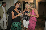 Rani Mohindra, Rosie Dixon and Lolly Dixon, The BladeRun Send-off party. The Henry Moore Gallery SW7, Royal College of Art. 16 August 2006.  ONE TIME USE ONLY - DO NOT ARCHIVE  © Copyright Photograph by Dafydd Jones 66 Stockwell Park Rd. London SW9 0DA Tel 020 7733 0108 www.dafjones.com