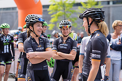 Wiggle High5 in having fun whilst they wait to sign in at Boels Hills Classic 2016. A 131km road race from Sittard to Berg en Terblijt, Netherlands on 27th May 2016.