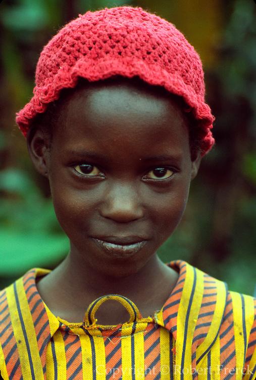 KENYA, HIGHLANDS Portrait of Kikuyu tribe girl