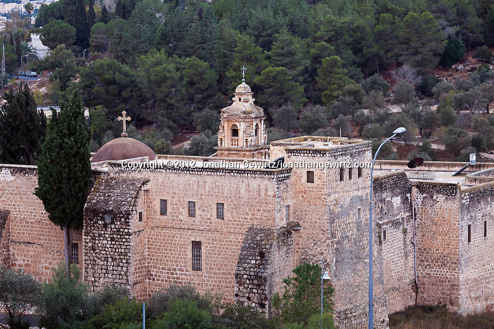 The Monastery of the Cross is located in the Valley of the Cross in Jerusalem. WATERMARKS WILL NOT APPEAR ON PRINTS OR LICENSED IMAGES.