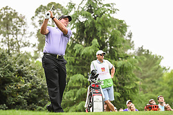 May 5, 2018 - Charlotte, NC, U.S. - CHARLOTTE, NC - MAY 05: Phil Mickelson tees off during the 3rd round of the Wells Fargo Championship on May 05, 2018 at Quail Hollow Club in Charlotte, NC. (Photo by William Howard/Icon Sportswire) (Credit Image: © William Howard/Icon SMI via ZUMA Press)
