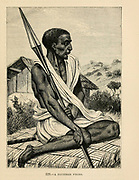 Zanzibar Negro engraving on wood From The human race by Figuier, Louis, (1819-1894) Publication in 1872 Publisher: New York, Appleton