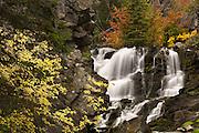 Vivid fall colors at Lost Creek State Park, Montana