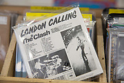 London Calling CD by The Clash on sale at Sounds of the Universe record shop on Broadwick Street on the 23rd March 2018 in Soho, London in the United Kingdom.