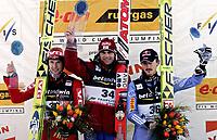 ◊Copyright:<br />GEPA pictures<br />◊Photographer:<br />Wolfgang Grebien<br />◊Name:<br />Wildhoelzl<br />◊Rubric:<br />Sport<br />◊Type:<br />Ski nordisch, Skispringen<br />◊Event:<br />FIS Skiflug-Weltcup, Skifliegen am Kulm<br />◊Site:<br />Bad Mitterndorf, Austria<br />◊Date:<br />15/01/05<br />◊Description:<br />Roar Ljoekelsoey (NOR), Andreas Wildhoelzl (AUT), Adam Malysz (POL)<br />◊Archive:<br />DCSWG-1501054127<br />◊RegDate:<br />15.01.2005<br />◊Note:<br />8 MB - KI/KI - Nutzungshinweis: Es gelten unsere Allgemeinen Geschaeftsbedingungen (AGB) bzw. Sondervereinbarungen in schriftlicher Form. Die AGB finden Sie auf www.GEPA-pictures.com.<br />Use of picture only according to written agreements or to our business terms as shown on our website www.GEPA-pictures.com.