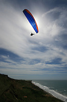 A paraglider enjoying the views over the isle of wight