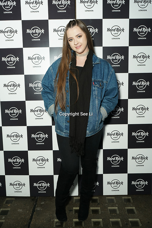Hard Rock Cafe London, England, UK. 4th Dec 2017. Celeb Arrivals at Fight For Life Charity Event of Christmas festivities and entertainment for children with cancer.