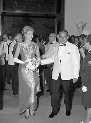 PRINCE RAINIER & PRINCESS GRACE OF MONACO at the Monte Carlo Red Cross Ball,  Monaco in August 1961.