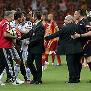 Besiktas's Mustafa Pektemek (L) during their Turkish Super League derby match Galatasaray between Besiktas at the AliSamiYen Spor Kompleksi TT Arena at Seyrantepe in Istanbul Turkey on Sunday, 24 May 2015. Photo by Aykut AKICI/TURKPIX