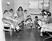 Y-480616A-03 Vanport victims in temporary housing at Guilds Lake. June 16, 1948