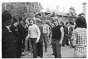 Troops out March in Oxford. 1981 Counter demonstration by National Front supporters.