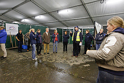 Henry Bullen, Director Peden Bloodstock giving a breefing<br /> Departure of the horses from Liege Airport to Lexington<br /> Alltech FEI World Equestrian Games - Kentucky 2010<br /> © Dirk Caremans