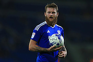 Aron Gunnarsson of Cardiff city looks on. EFL Skybet championship match, Cardiff city v Blackburn Rovers at the Cardiff city stadium in Cardiff, South Wales on Wednesday 17th August 2016.<br /> pic by Andrew Orchard, Andrew Orchard sports photography.