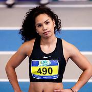 NLD/Apeldoorn/20180217 - NK Indoor Athletiek 2018, 60 meter dames, Gabriëlla van der Wijck