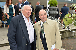 Left to right, CHRISTOPHER HANBURY and NICK NUGENT at the Goffs London Sale held at The Orangery, Kensington Palace, London on 12th June 2016.