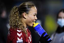Ebony Salmon of Bristol City Women after the final whistle of the match - Mandatory by-line: Ryan Hiscott/JMP - 13/01/2021 - FOOTBALL - Twerton Park - Bath, England - Bristol City Women v Aston Villa Women - FA Continental Cup quarter final