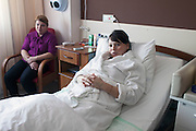 Lapino, Russia, 29/03/2013.<br /> 24 year old Lulia Tikhomirova, who received free treatment from Dr Mark Kurtser, Russia's newest billionaire, at his new hospital in the town of Lapino in Moscow Region.