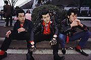 Harajuku district Elvis dance troop members. Tokyo, Japan.
