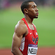 Bryshon Nellum, USA, competing in the Men's 400m semi final at the Olympic Stadium, Olympic Park, Stratford at the London 2012 Olympic games. London, UK. 5th August 2012. Photo Tim Clayton