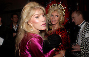 Donatella Flick and Countess Gunilla von Bismarck. Andy & Patti Wong's Chinese New Year party to celebrate the year of the Rooster held at the Great Eastern Hotel, Liverpool Street, London.29th January 2005. The theme was a night of hedonism in 1920's Shanghai. . ONE TIME USE ONLY - DO NOT ARCHIVE  © Copyright Photograph by Dafydd Jones 66 Stockwell Park Rd. London SW9 0DA Tel 020 7733 0108 www.dafjones.com