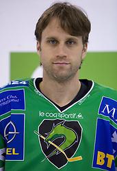 Gregory Kuznik of HDD Tilia Olimpija before new season 2008/2009,  on September 17, 2008 in Arena Tivoli, Ljubljana, Slovenia. (Photo by Vid Ponikvar / Sportal Images)