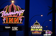 Photo Randy Vanderveen.The night lights of High Level, Alberta resemble the Las Vegas strip of the 60s with some familiar names up in lights.