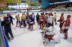 Practice of HK Acroni Jesenice Team,  on September 03, 2009, in Arena Podmezaklja, Jesenice, Slovenia.  (Photo by Vid Ponikvar / Sportida)