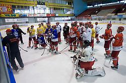 Practice of HK Acroni Jesenice Team,  on September 03, 2009, in Arena Podmezaklja, Jesenice, Slovenia.  (Photo by Vid Ponikvar / Sportida)