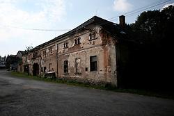 CZECH REPUBLIC VYSOCINA NEDVEZI 3AUG14 - General view of the derelict Konvalina farm buildings in Nedvezi, Vysocina, Czech Republic.<br /> <br /> <br /> <br /> jre/Photo by Jiri Rezac<br /> <br /> © Jiri Rezac 2014