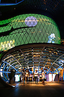 """ION Orchard was designed to be the """"centre of gravity"""" on Singapore's Orchard Road retail scene, with a spectacular facade, cutting edge design and concepts. Built over Singapore's metro system at Orchard Road Station it is hard to miss its fashion boutiques stores all located within one development, with over eight levels of shopping space at the prime site of Singapore's commercial and shopping artery."""