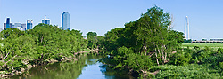 Trinity River, Dallas, Texas, USA.