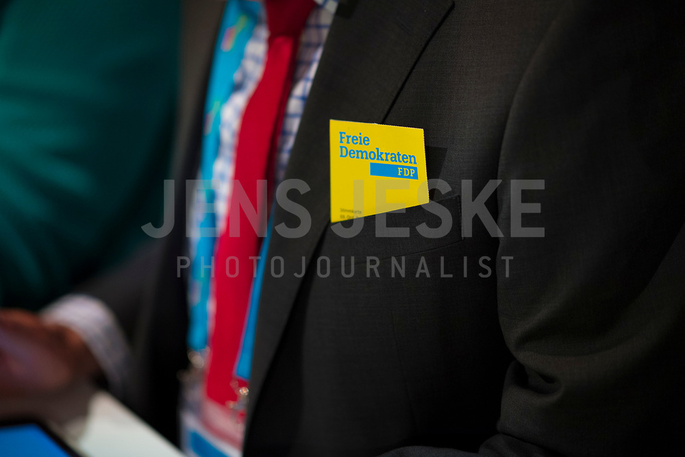 DEU, Deutschland, Germany, Berlin,12.05.2018: Ein Stimmzettel der FDP beim 69. Bundesparteitag der Freien Demokratischen Partei (FDP) in der Station.