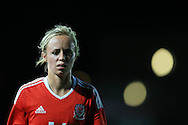Nadia Lawrence  of Wales looks on.  Friendly International Womens football, Wales Women v Republic of Ireland Women at Rodney Parade in Newport, South Wales on Friday 19th August 2016.<br /> pic by Andrew Orchard, Andrew Orchard sports photography.