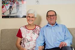 Portrait of Anica and France Stebe, grandmother and grandfather of rider Tadej Pogacar, 2 days before he won Tour de France 2020, on September 18, 2020 in Klanec pri Komendi, Slovenia. Photo by Vid Ponikvar / Sportida