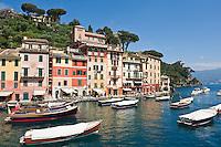 Scenic harbor and waterfront, Portofino, Liguria, Italy