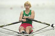 Seville, Andulucia, SPAIN<br /> <br /> 2002 World Rowing Championships - Seville - Spain Sunday 15/09/2002.<br /> <br /> Rio Guadalquiver Rowing course<br /> <br /> BLR W1X Ekaterina Karsten<br /> <br /> [Mandatory Credit:Peter SPURRIER/Intersport Images]