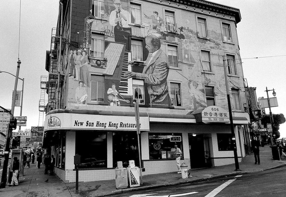 Mural, Columbus avenue, North Beach, San Francisco
