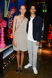 PHOEBE COLLINGS JAMES and SEAN FRANK at the launch of Dim Sum Sundays by Hakkasan at Hakkasan, Hanway Place, London on 8th September 2013.