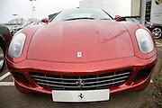 Ferrari cars on dealership forecourt
