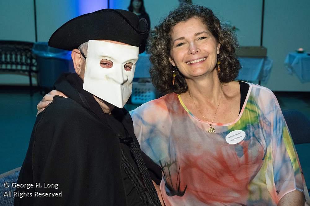 """James Freeman and Cindy Van Duyne; The Women's Center for Healing and Transformation """"An Evening of Masquerade"""" fifth annual fundraising gala at the Castine Center in Mandeville, Louisiana on March 31, 2017"""