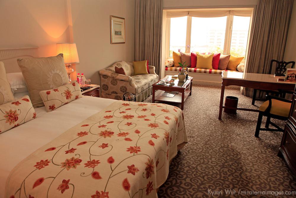 Asia, India, Calcutta. Club Room at the Tal Bengal Hotel.