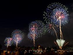July 4, 2017 - New York, NY, U.S - Macy's 4th of July Fireworks in New York City, New York on July 4, 2017. (Credit Image: © Michael Brochstein via ZUMA Wire)