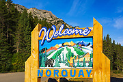 Mount Norquay sign, Banff National Park, Alberta, Canada
