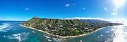 Diamond Head Beach, Waikiki, Honolulu, Oahu, Hawaii, USA