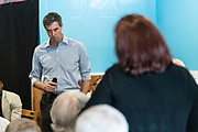 Democratic presidential hopeful Beto O'Rourke takes a question from supporters during a campaign stop at Gilligan's Restaurant April 13, 2019 in Summerville, South Carolina. During the event in the suburb of Charleston, Beto picked up the endorsement of South Carolina Rep. Marvin Pendarvis.