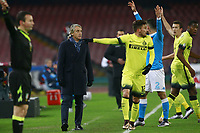 Roberto Mancini Inter, Alex Telles Inter,  <br /> Napoli 19-01-2016 Stadio San Paolo<br /> Football Calcio Coppa Italia Quarti di Finale. Napoli - Inter<br /> Foto Cesare Purini / Insidefoto